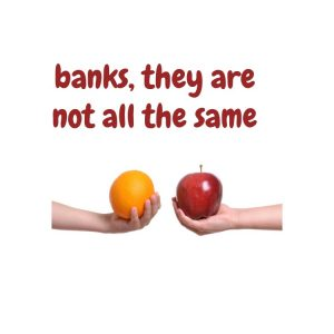 banks are not the same so mortgage brokers offer choice